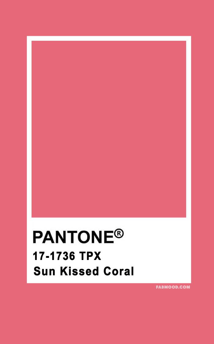 Pantone Sun Kissed Coral 17-1736