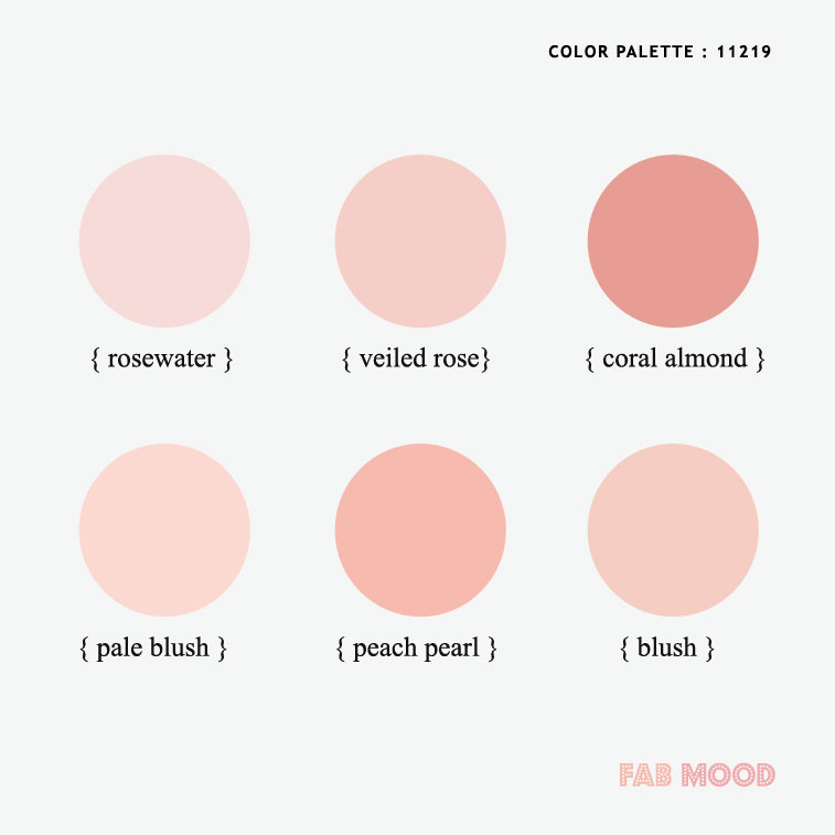 4 Soft and Romantic Pink Color Palettes For Spring Wedding 2020