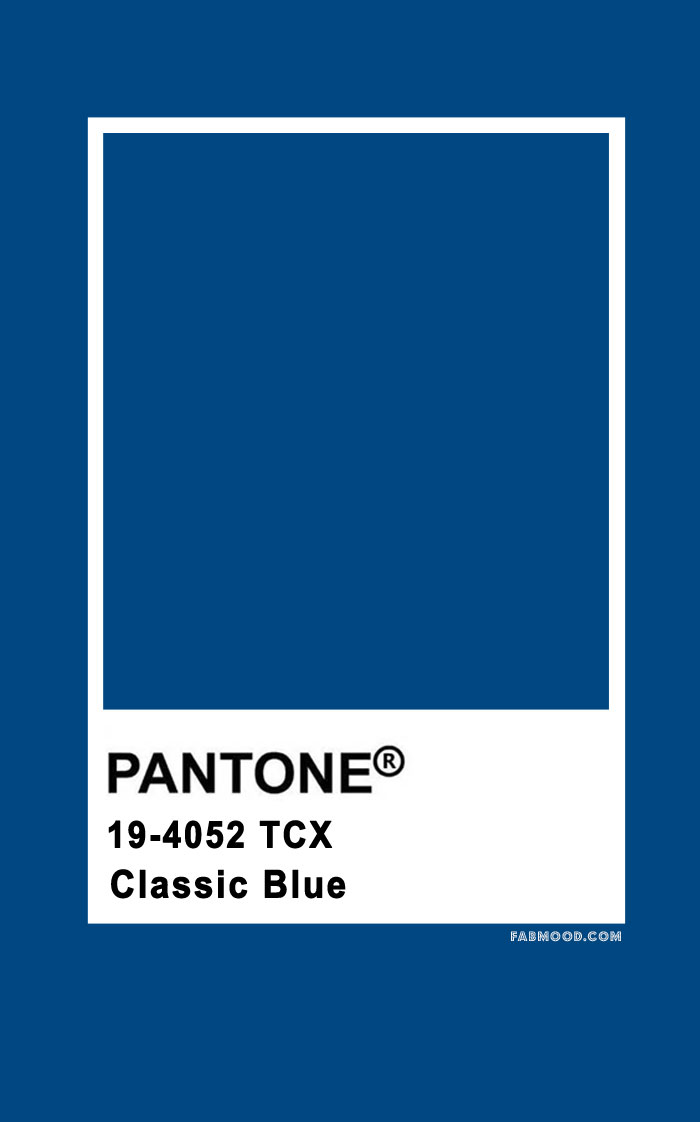 THE PANTONE COLOR OF THE YEAR 2020 – Pantone Classic Blue 19-4052