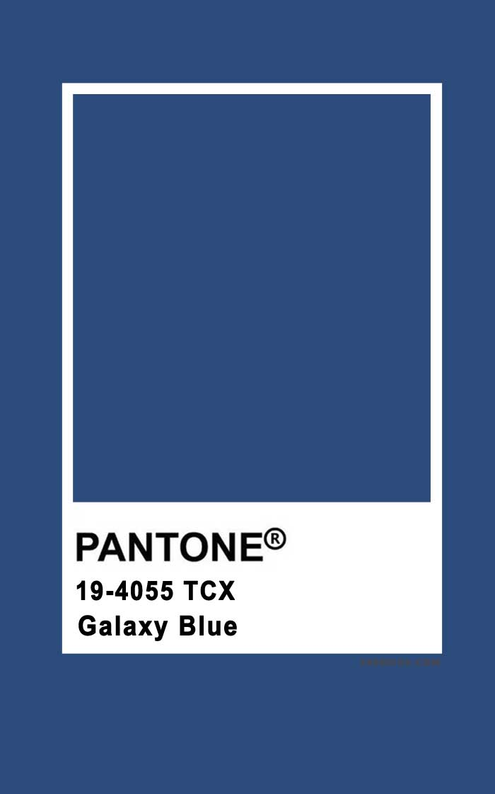 Pantone Galaxy Blue 19-4055
