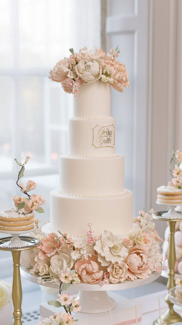 elegant wedding cake, wedding cake for ballroom wedding, wedding cakes #weddingcakes