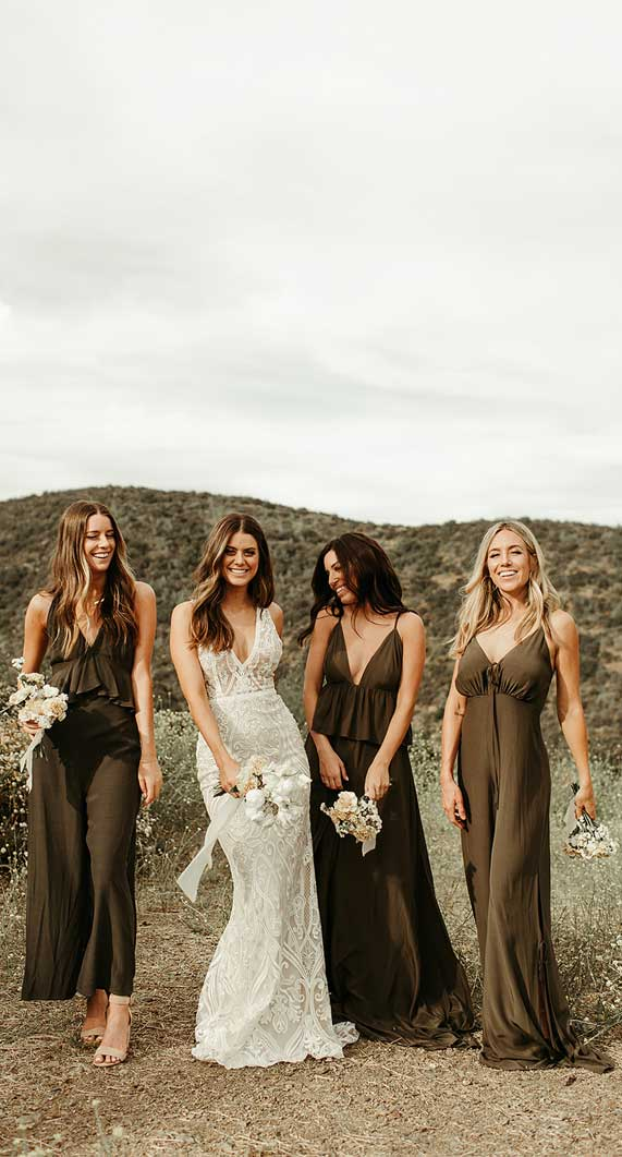 best bridesmaid jumpsuits, chiffon bridesmaid jumpsuits, bride bridesmaids jumpsuits, bridesmaid jumpsuits , wedding jumpsuits 2020, wedding party jumpsuits, designer jumpsuits for weddings, best jumpsuit for bridesmaids #jumpsuits #bridesmaidjumpsuits jumpsuit outfit wedding