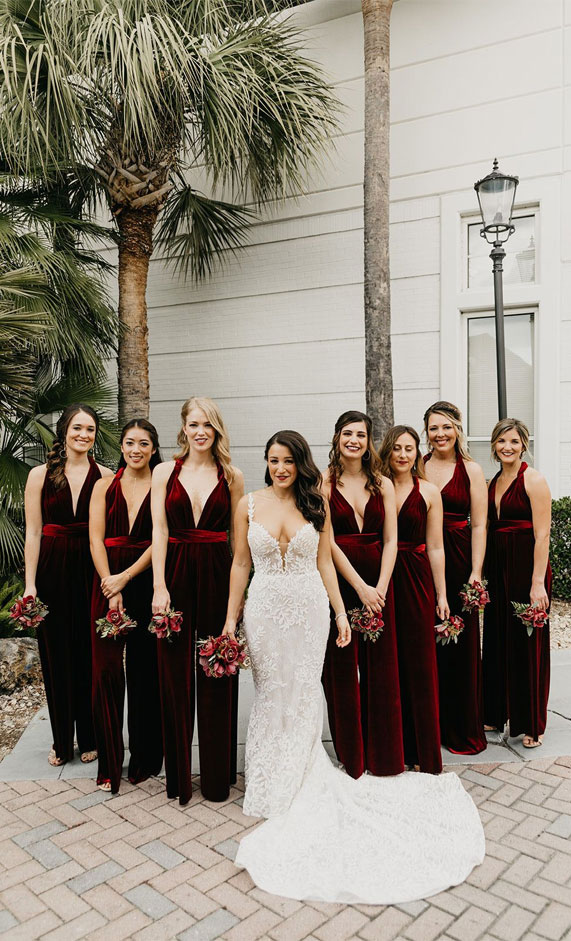 best bridesmaid jumpsuits, chiffon bridesmaid jumpsuits, bride bridesmaids jumpsuits, bridesmaid jumpsuits , wedding jumpsuits 2020, wedding party jumpsuits, designer jumpsuits for weddings, best jumpsuit for bridesmaids #jumpsuits #bridesmaidjumpsuits jumpsuit outfit wedding, fall bridesmaid jumpsuits, burgundy bridesmaid jumpsuits
