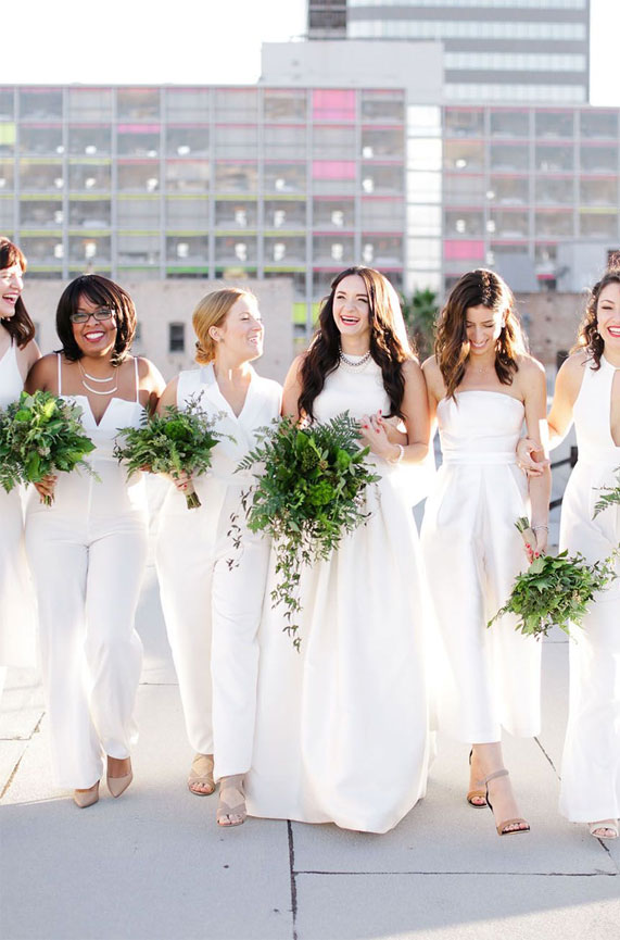 best bridesmaid jumpsuits, chiffon bridesmaid jumpsuits, bride bridesmaids jumpsuits, bridesmaid jumpsuits , wedding jumpsuits 2020, wedding party jumpsuits, designer jumpsuits for weddings, best jumpsuit for bridesmaids #jumpsuits #bridesmaidjumpsuits jumpsuit outfit wedding, white bridesmaid jumpsuits