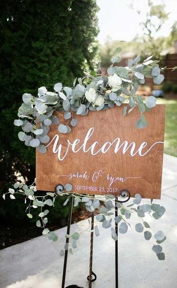welcome wedding sign, sage wedding ideas, wooden wedding sign, wedding sign ideas