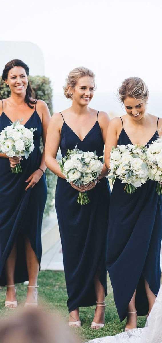navy blue bridesmaid dresses, summer bridesmaid dresses, navy blue bridesmaids