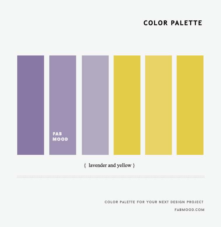 Lavender and Yellow Color Palette