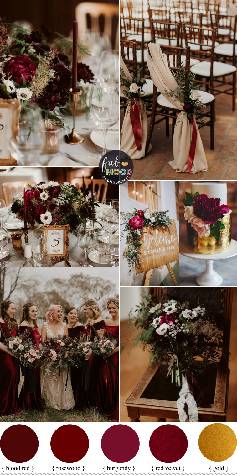 Deep Red Color For Urban Timeless meets Elegant Wedding