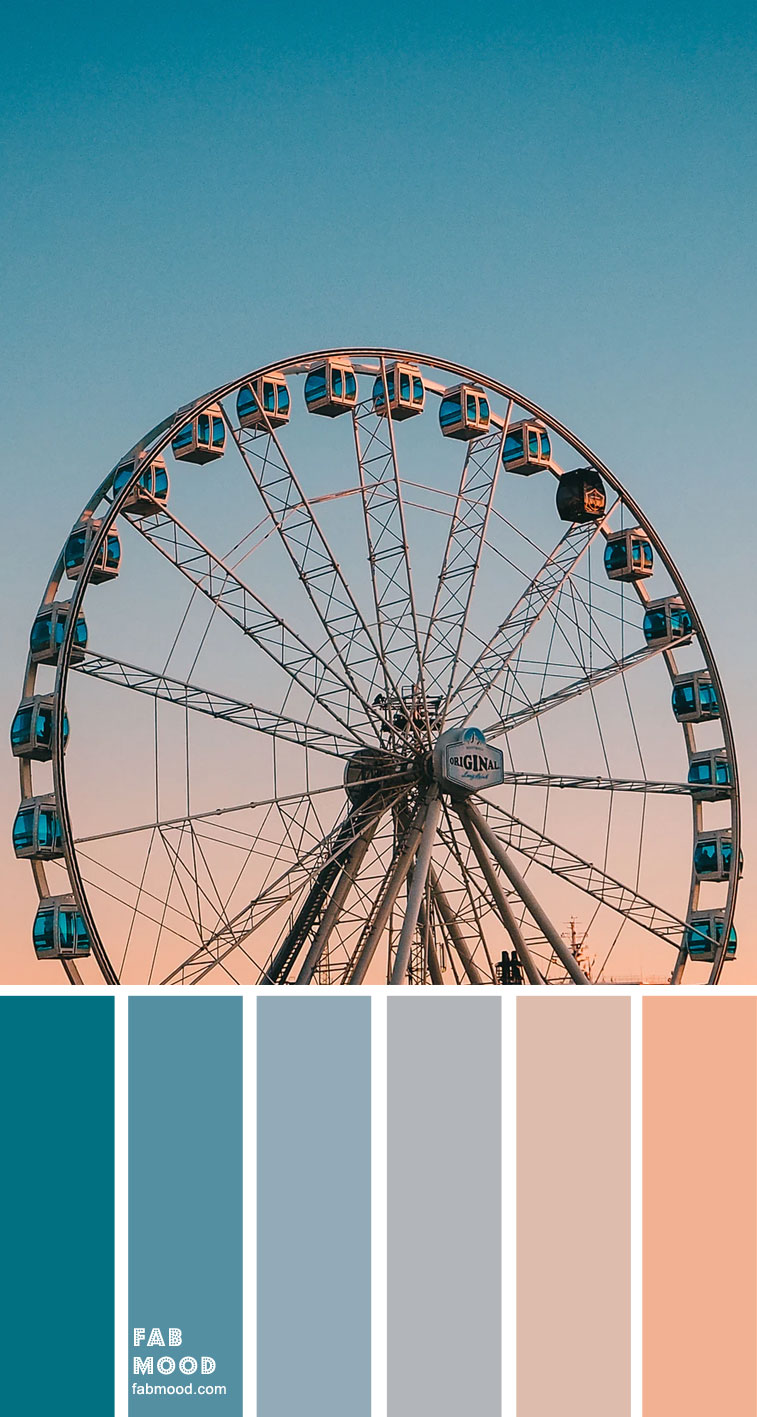 Color Inspiration : Ombre Teal and Peach – Color Palette #32
