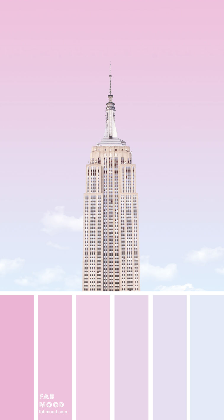 Color Inspiration : Ombre pink Sky Inspired – Color Palette #38