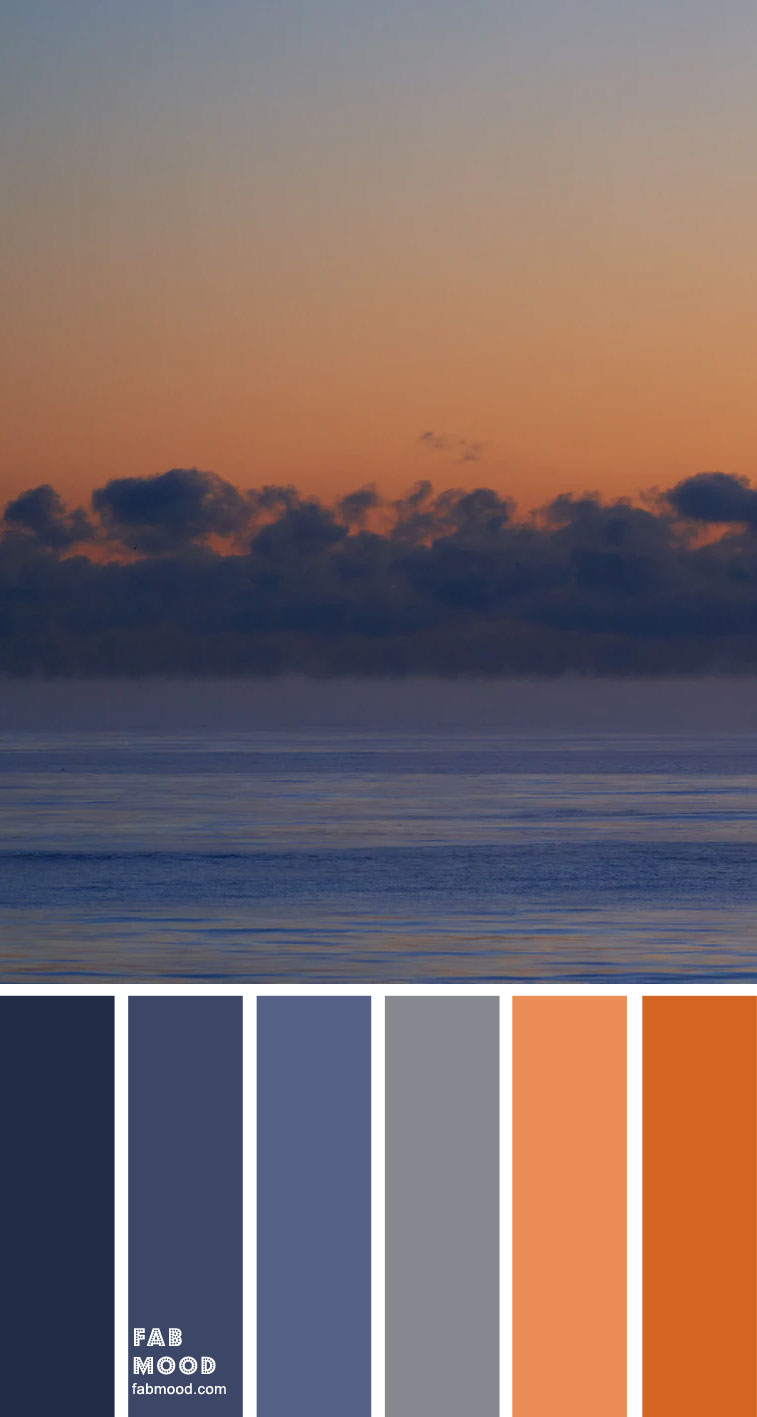 Color Inspiration – Indigo and Terracotta Sky Inspired – Color Palette #41