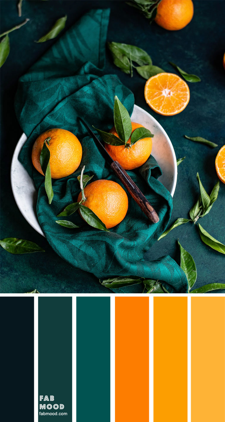 Color Inspiration : Orange and Teal – Color Palette #37