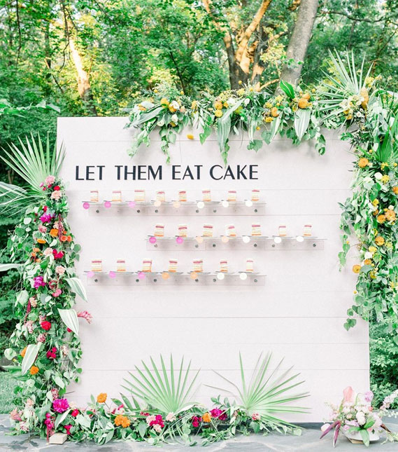 Yummy & Creative Escort Cards And Seating Displays with floral