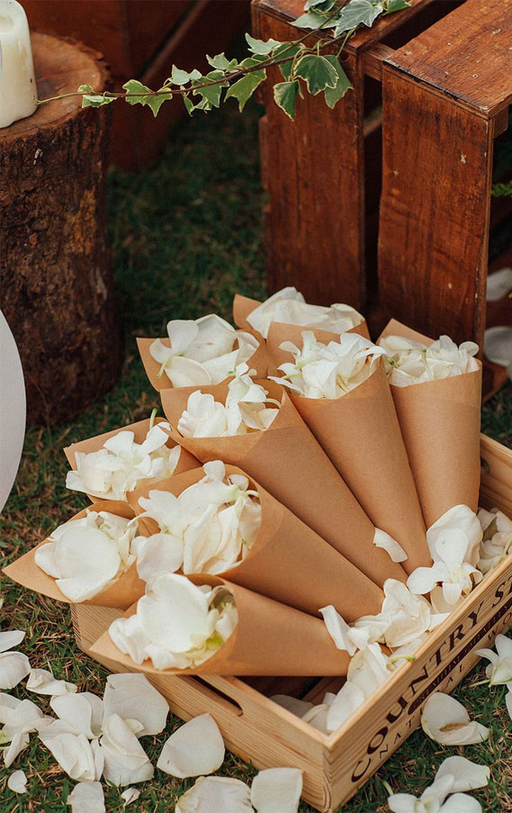 confetti, wedding confetti, Flower petal confetti cones #confetti