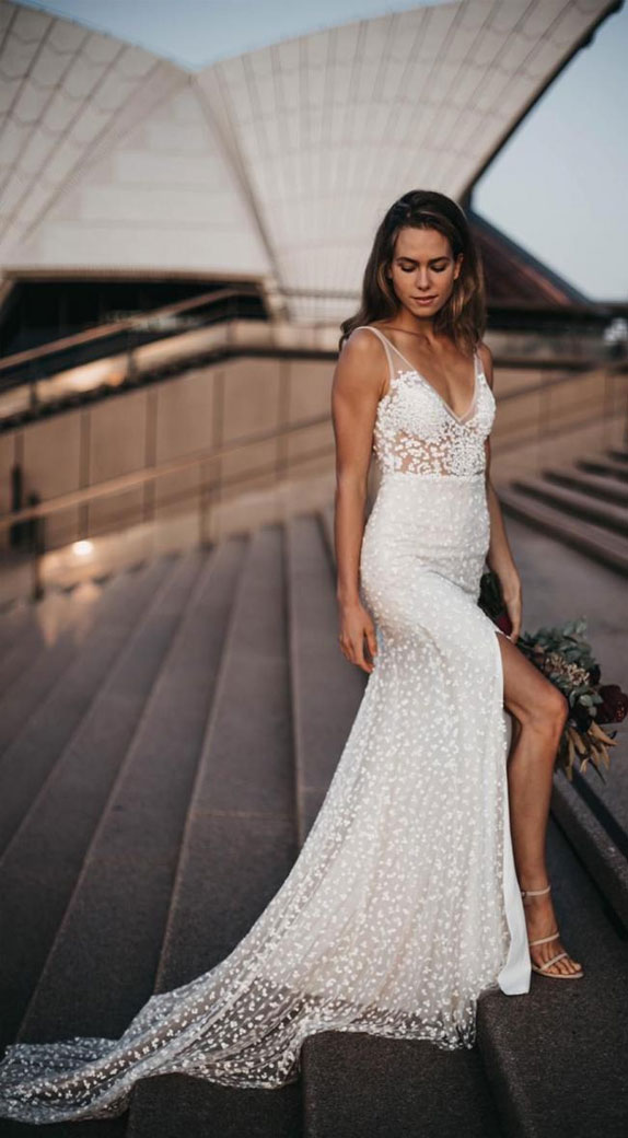 sleeveless wedding dress, summer wedding dress, a-line wedding dress #summer #summerwedding #summerweddingdress