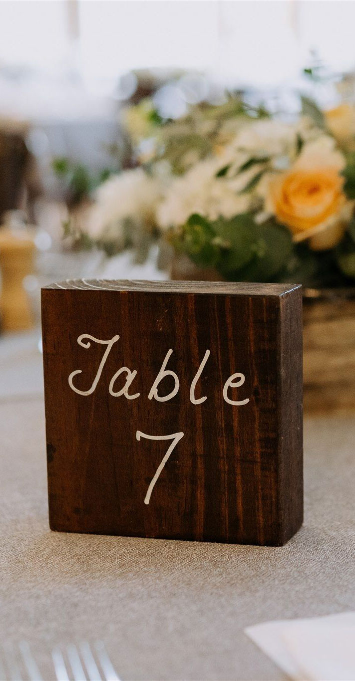 wedding table number , wedding table decor ideas