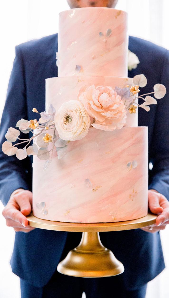 blush marble wedding cake, blush wedding cake, elegant wedding cake, luxury wedding cake, french styled wedding, wedding cake ideas, blush wedding cake ideas #weddingcake marble wedding cake