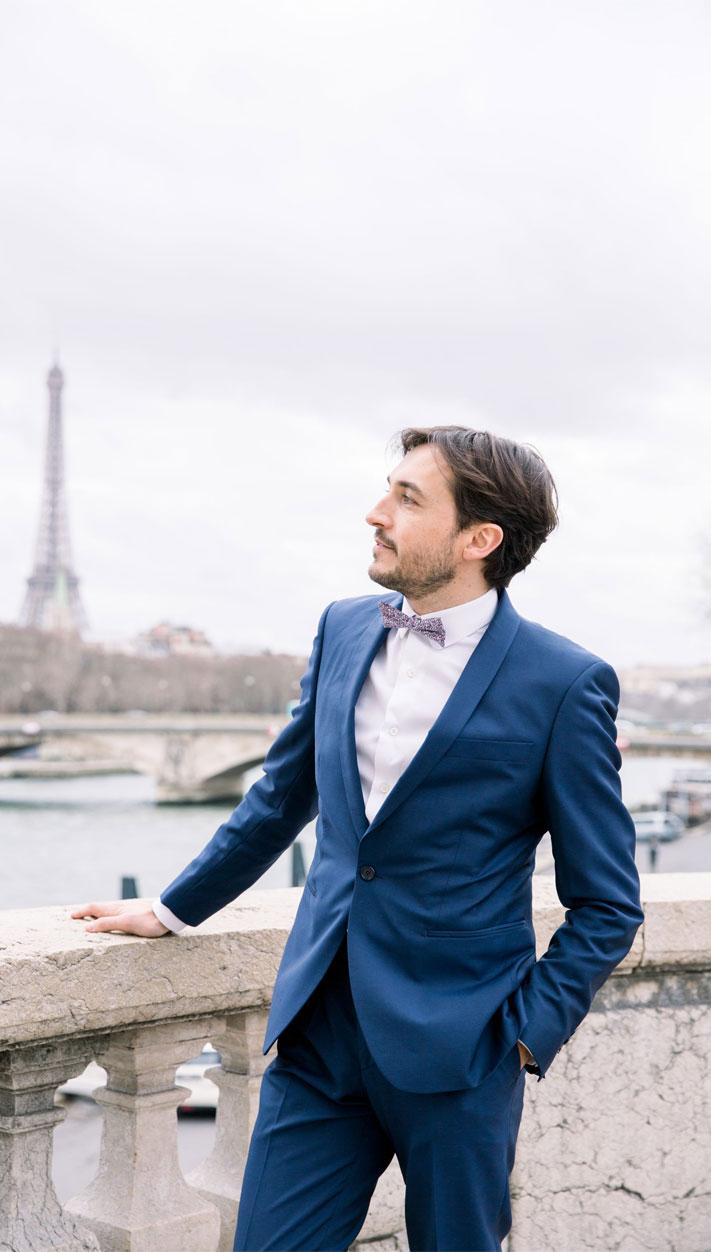 groom in blue suit with bow tie, groom , groom suit, navy blue groom suit #groom