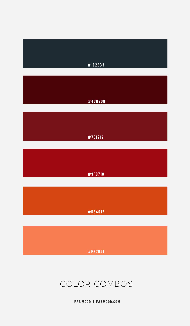 Dark blue and Dark red hue color combos