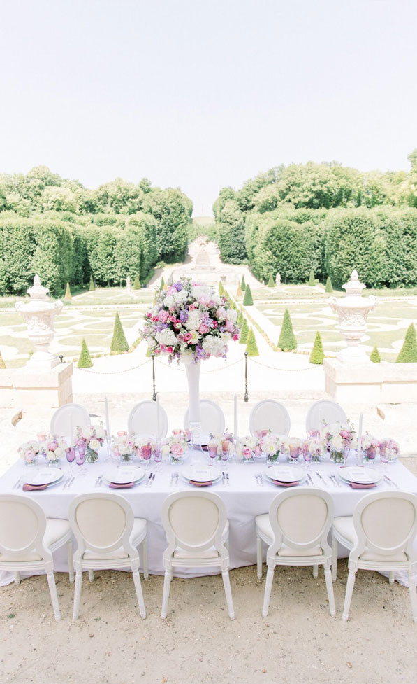 dreamy french chateau wedding, outdoor wedding reception , french chateau wedding, wedding reception decors