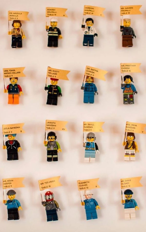 Lego Escort Card Displays { Fun & Creative Escort Card Ideas }