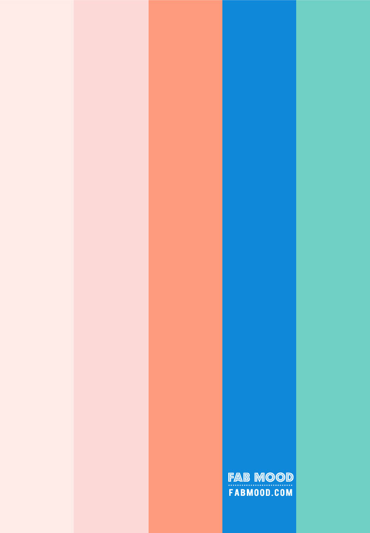 Pink , Royal Blue , Mint and Orange Color Combos