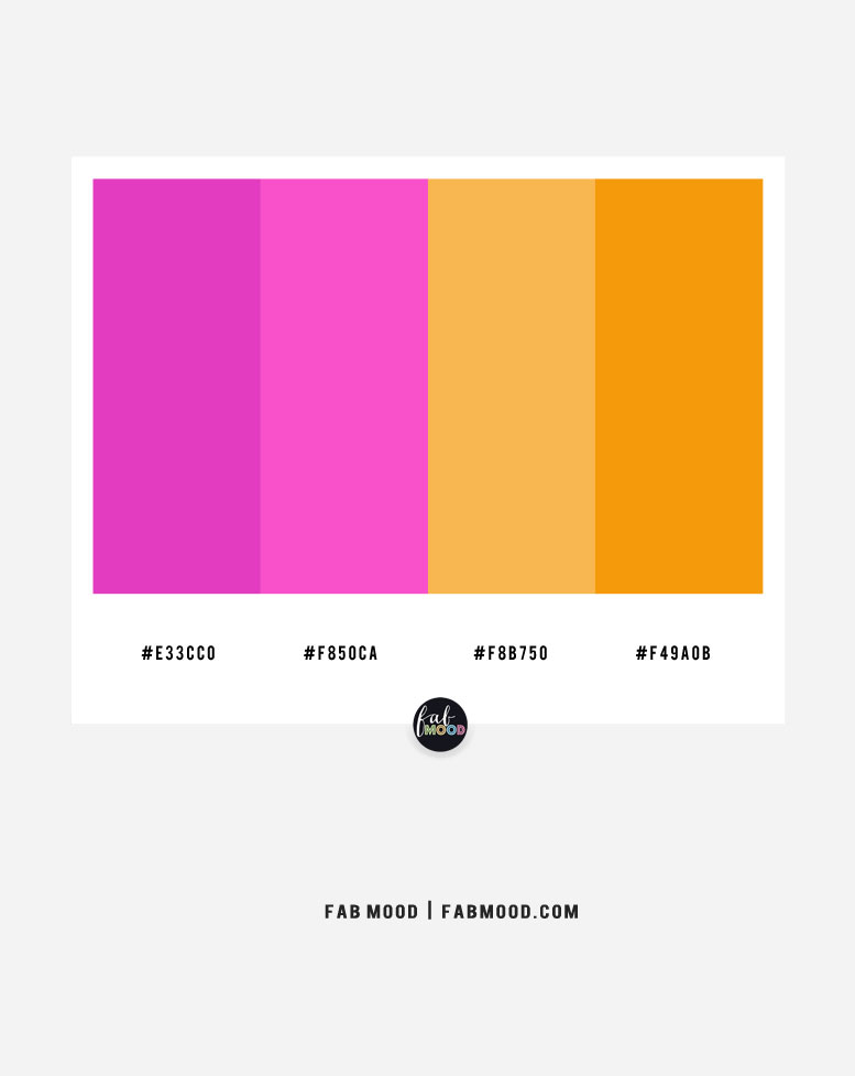 Magenta and saffron  – color combo #41