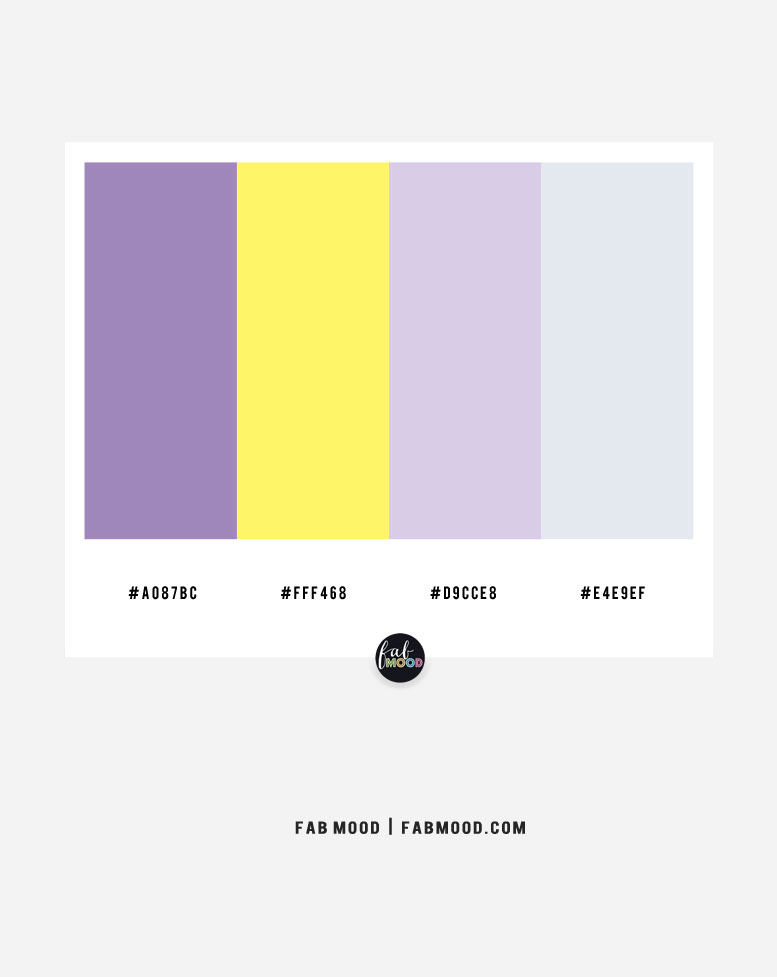 Lavender and yellow color scheme – color combo #37