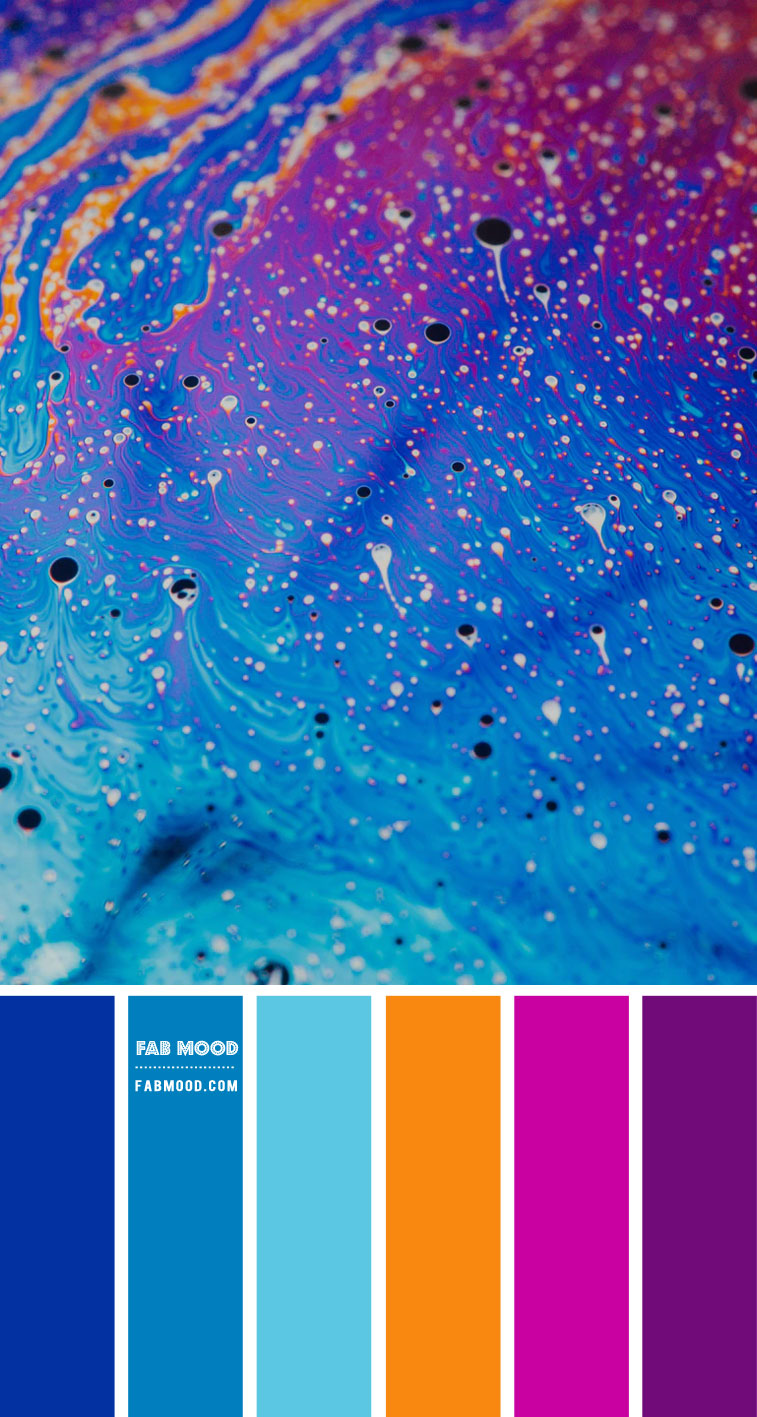 Royal blue, Magenta, Orange and Purple Color Scheme – Color Palette #67