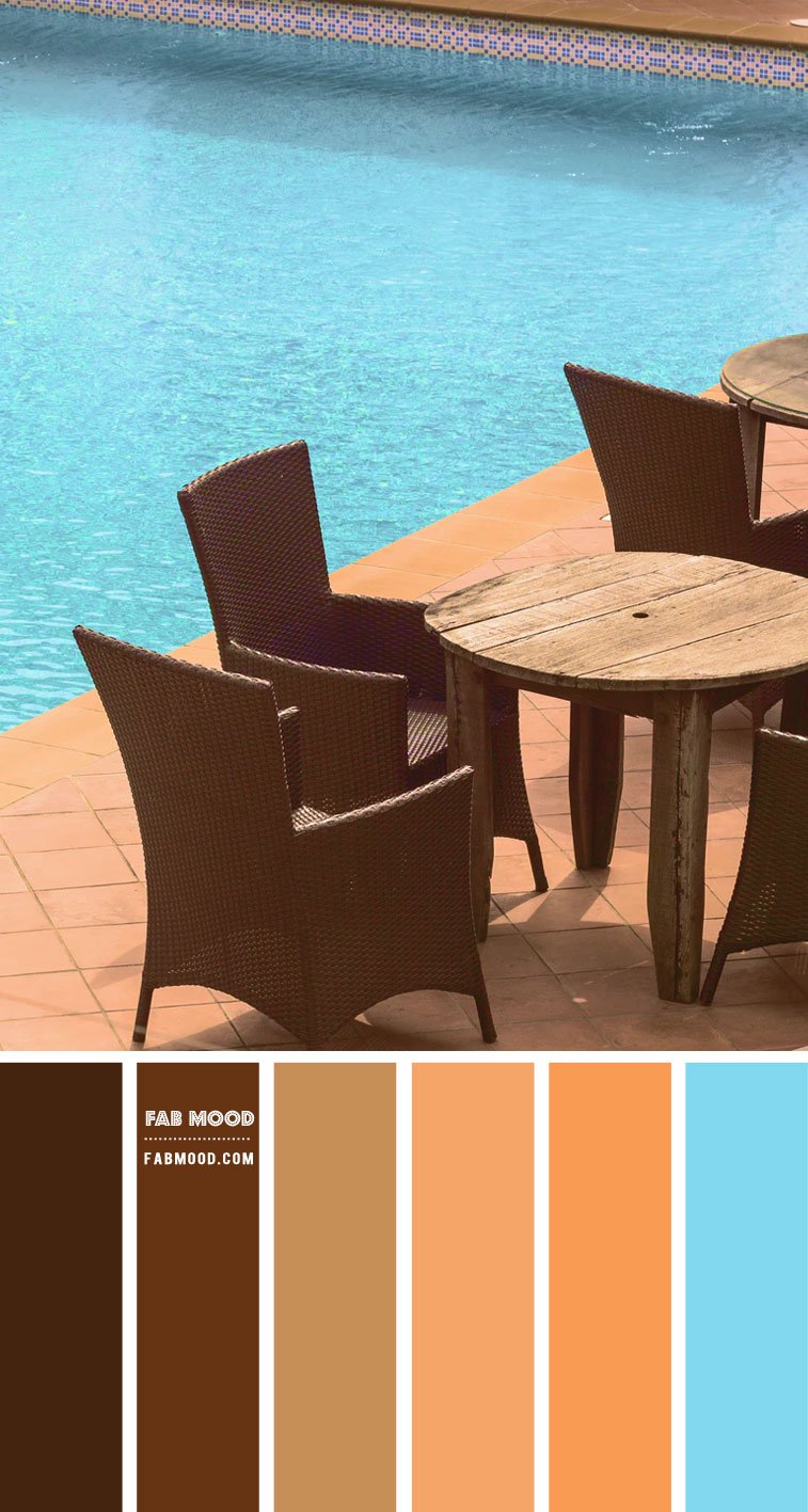Brown, Terracotta and Turquoise Color Scheme  – Color Palette #66