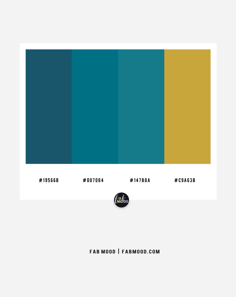 Slate teal and gold color scheme – color combo #39