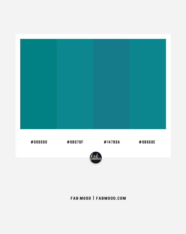 teal color scheme, teal color combos, teal color combination, teal and blue teal color palette , 4 color combinations