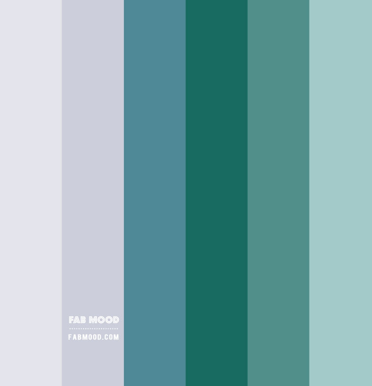 Color Combo #22 { light grey, teal and green hue }
