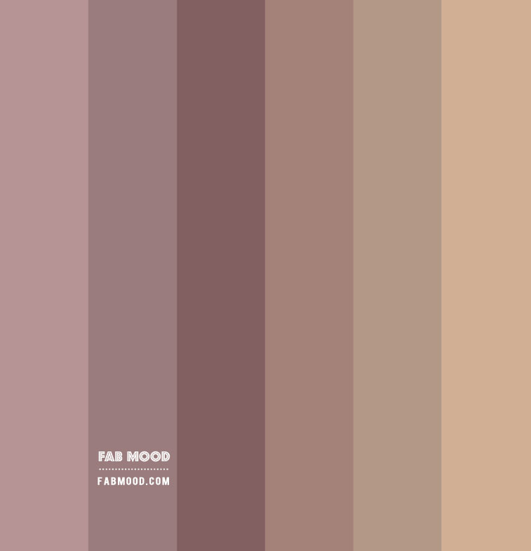 neutral color palette, earth tone color palette, mauve and taupe color combo, color scheme, color combos