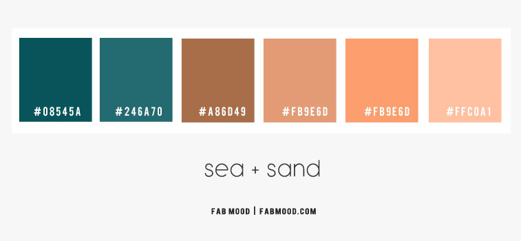 beach sand color combos, beach sand color schemes, emerald green and neutral color , sand color palette