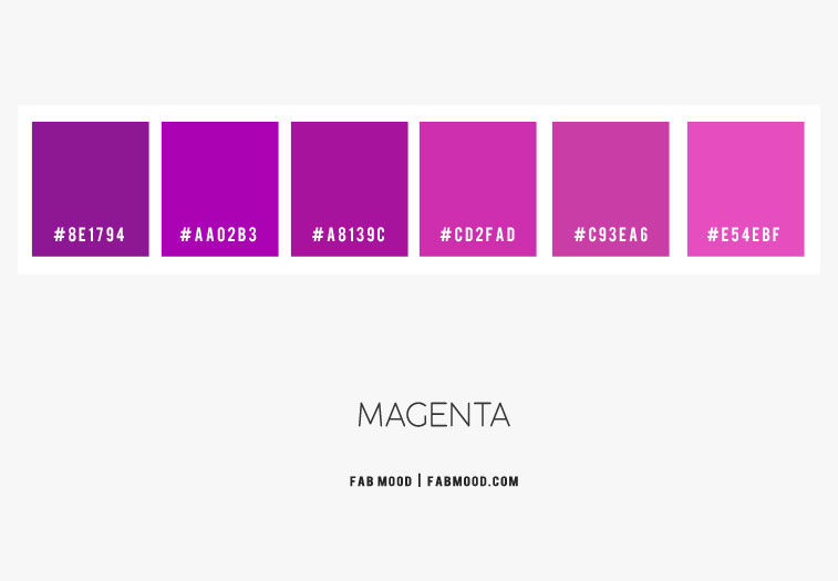 magenta color scheme, magenta color hex, color hex, magenta and purple color combo