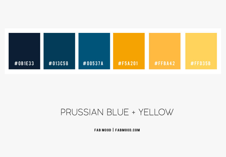 prussian blue and yellow color scheme, prussian color , prussian blue and mustard yellow color combination