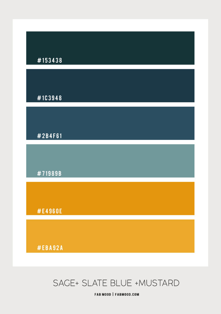 sage and mustard color scheme, midnight green color scheme, midnight green slate blue and mustard color scheme, dark green dark blue and yellow color combo, midnight green and mustard color combo, color combination