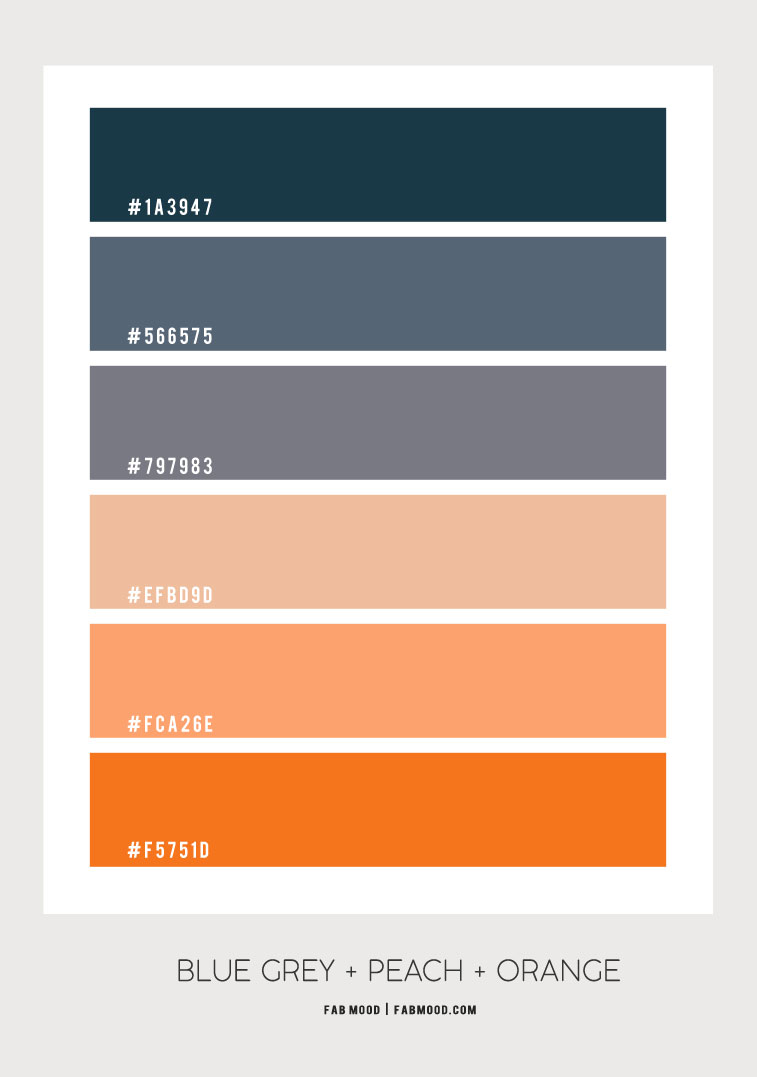 dark blue grey and peach, dark blue and peach, blue grey and peach color scheme, blue grey and peach color combo, color palette