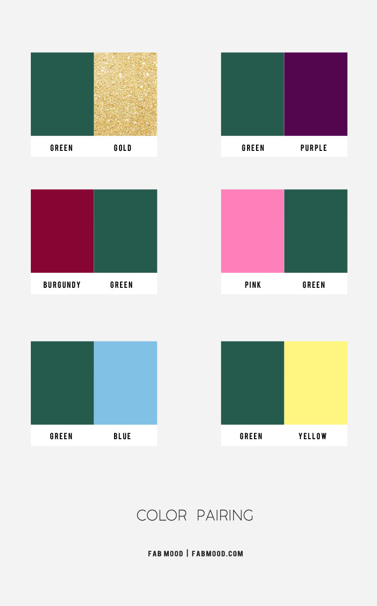 green color combos, autumn jewel tone, green color scheme, green burgundy green yellow color combos, pink and green color combos, best color combos, jewel tone color combos