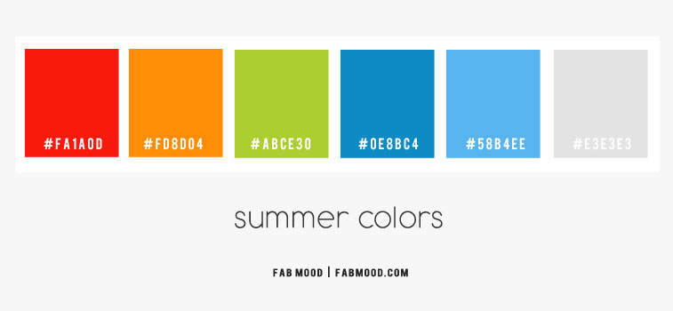 summer color hex, summer color palette hex, summer colors palette, true summer color palette, summer color combos, orange green blue and red color palette, summer colours 2020, cool summer color palette, summer colors 2020