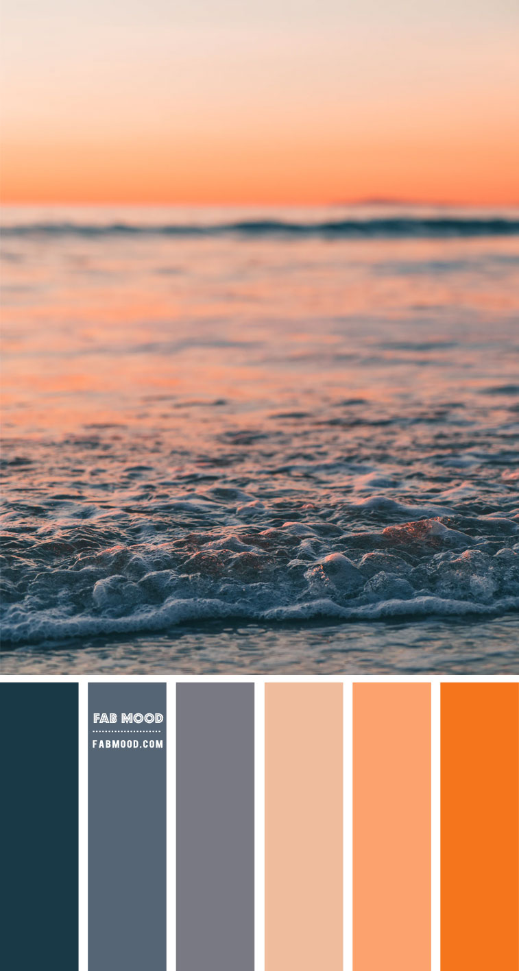 Dark Blue, Peach and Orange Color Scheme – Color Palette #56