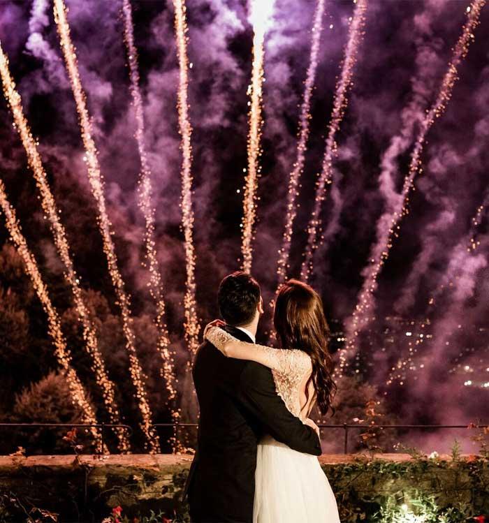 wedding fireworks, firework wedding