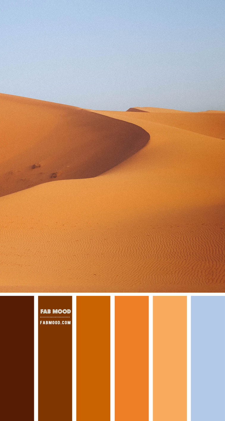 Golden sand and blue color scheme  – Color Palette #65