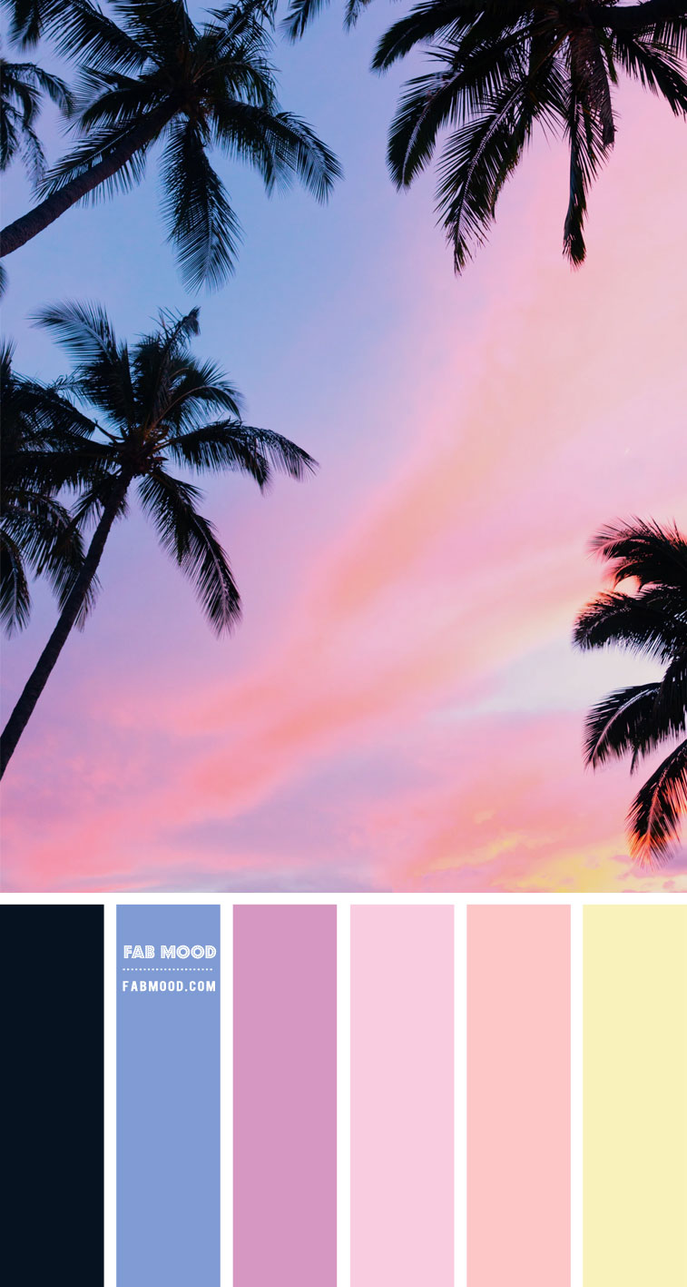 Soft Pastel Color Palette : Color Tropic and black – Color Palette #43