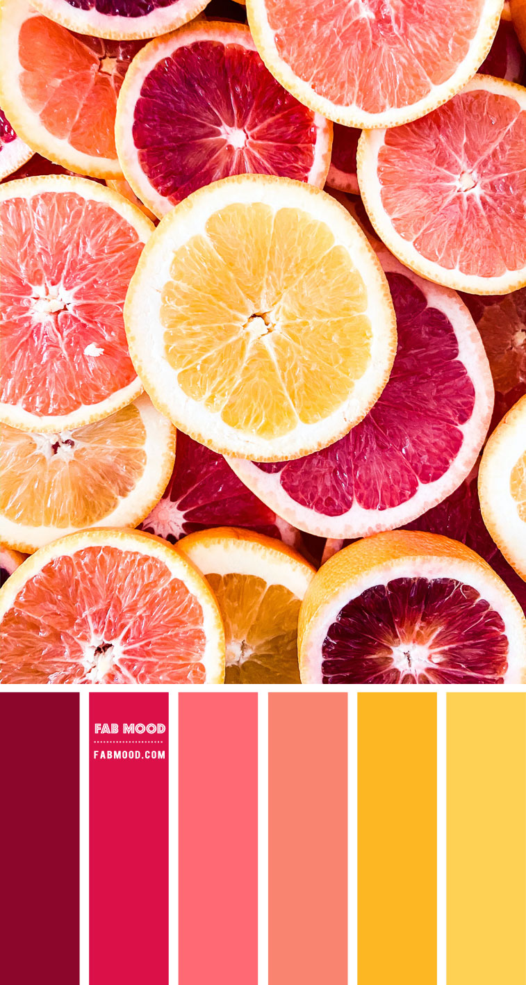 pink and yellow color scheme, pink and salmon pink color scheme, pink and yellow color combo,