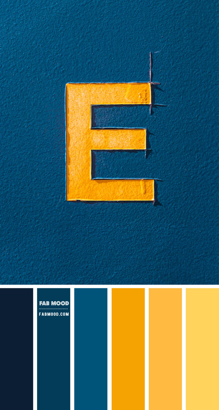 Prussian Blue And Yellow Color Scheme Prussian Color Combination