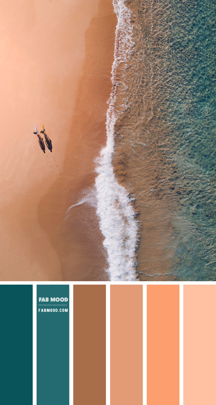 Teal and Beach Sand Color Palette – Color Palette #44