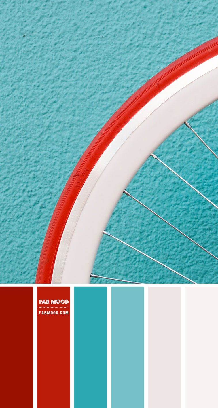 Red and Tiffany Colour Palette #86