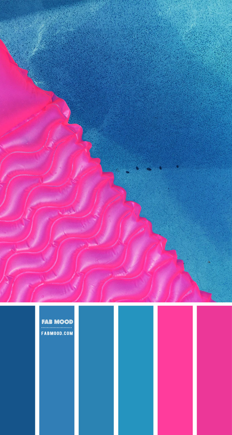 Blue and Hot Pink Color Scheme – Color Palette #74